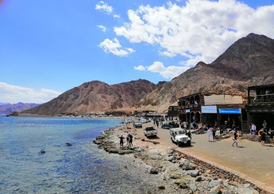 Blue Hole Dahab with restaurants